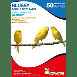 Papel Fotografico Doble Faz Glossy Brillante A4 150g/50hojas