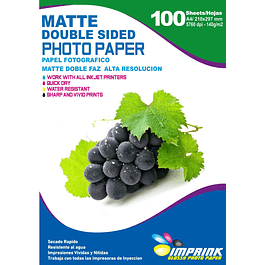 Papel Alta Resolucion Doble Faz Matte A4/140g/100 Hojas