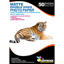 Papel Alta Resolucion Doble Faz Matte A4/250g/50 Hojas