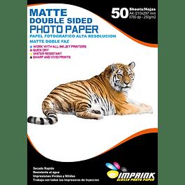 Papel Alta Resolución Doble Faz Opalina Matte A4/250g/50 Hojas