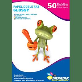 Papel Doble Faz Glossy Brillante A3 De 230gr/50 Hojas