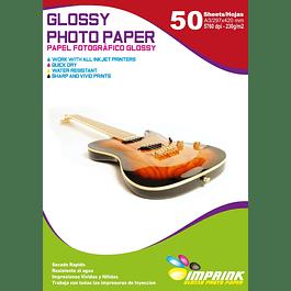 Papel Fotografico Glossy Brillante A3 De 230gr/50 Hojas