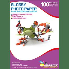 Papel Fotografico Glossy Brillante A3 De 135gr/100 Hojas