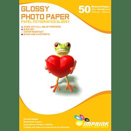 Papel Fotografico Glossy Brillante A3+ De 180gr/50 Hojas