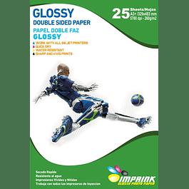 Papel Foto Glossy Doble Faz A3+(33x48) 260gr/25 Hojas