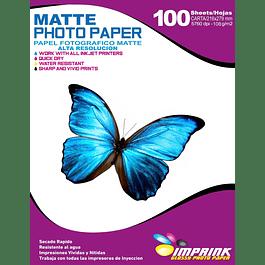Papel Alta Resolución  Matte Carta / 108g / 100 Hojas