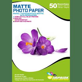 Papel Foto matte Alta resolución A4 180 gr / 50 Hojas