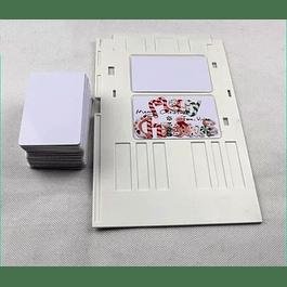 Bandeja Para Credenciales Pvc En Epson T50/L800/L805/L810/L850 + 100 Tarjetas
