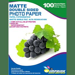 Papel Alta Resolución Doble Faz Matte  Carta / 140g / 100 Hojas