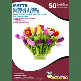 Papel Foto Alta Res Doble Faz Matte A3+(33x48)/300g/50 Hojas