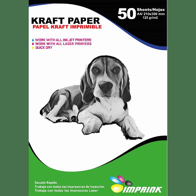 Papel Kraft Imprimible A4 / 125g 50 Hojas