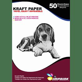 Papel Kraft Imprimible A4 / 300 g 50 Hojas