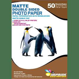 Papel Alta Resolución Doble Faz Matte A4 / 220g / 50 Hojas