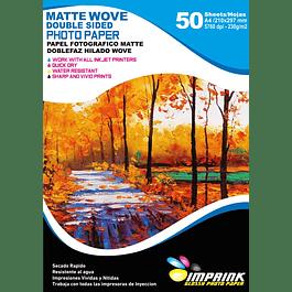 Papel Fotografico Doblefaz Matte Hilado Wove A4/230g/50 Hojas