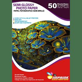 Papel Foto Semi-glossy A4 De 250gr/50 Hojas Semi Brillo