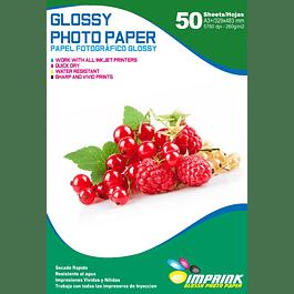Papel Fotografico Glossy Brillante A3+ De 260gr/50 Hojas