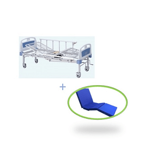 Catre Clínico Manual 2 Posiciones con Baño + Colchón para Catre Clínico