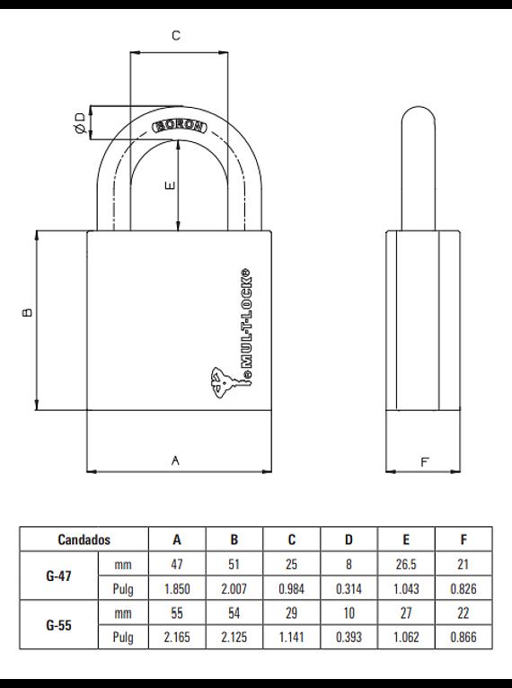 Candados Serie-G 47