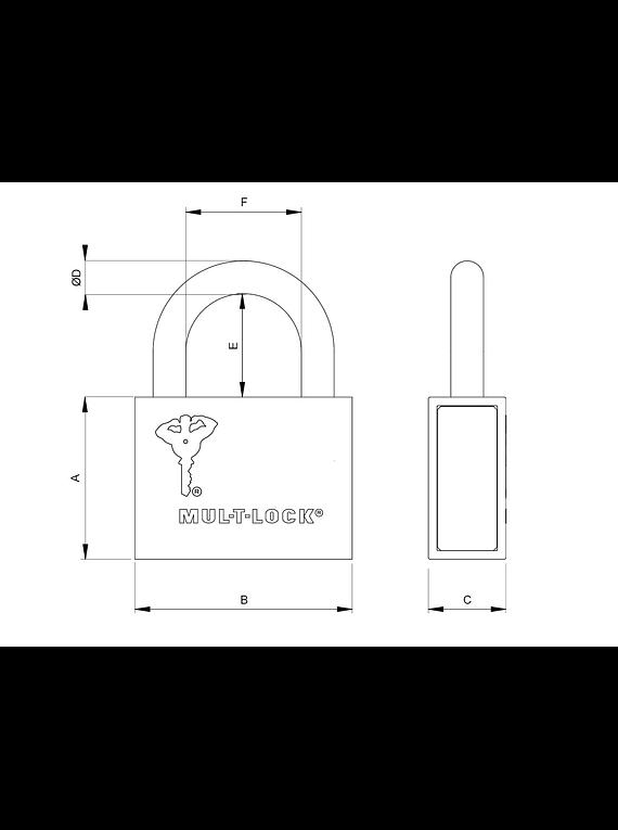 Candado Mul-T-Lock C-13 Removible