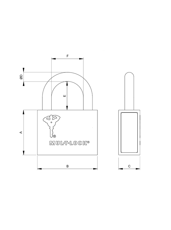 Candado Mul-T-Lock C-13