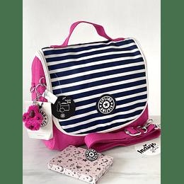 Lonchera Kichirou Stripe Pink
