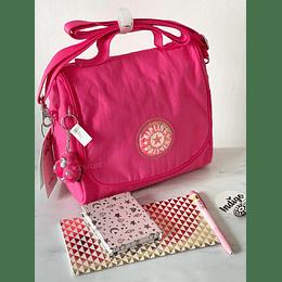Lonchera Kichirou Flashy Pink Glitter