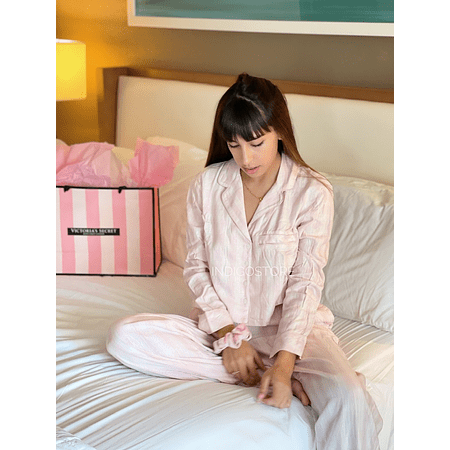 Conjunto Pijama Franela Rosa Victoria's Secrets