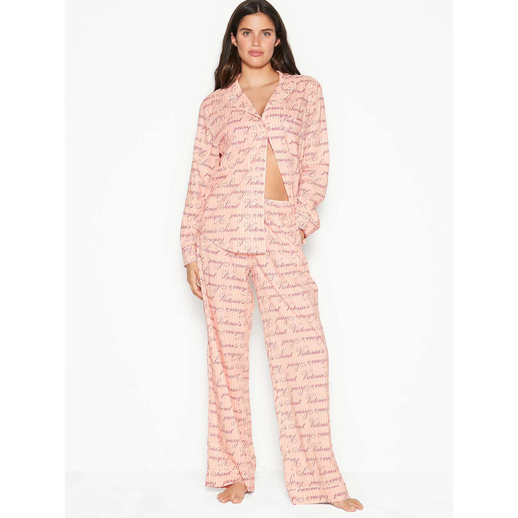 Conjunto pijama algodón rosa Victoria's Secret