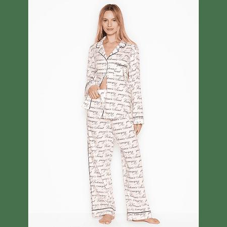 Conjunto pijama algodón blanco Victoria's Secret