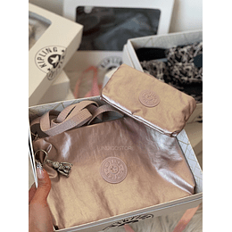 Kipling Box Rose Metallic