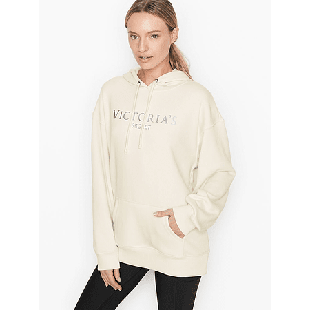 Canguro Crema letras plateadas Victoria Secret
