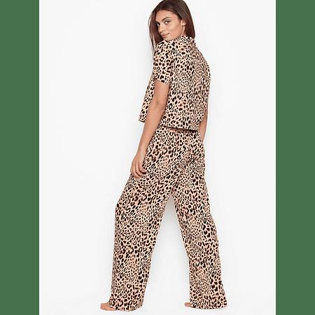 Pijama manga corta Animal Print Victoria Secret