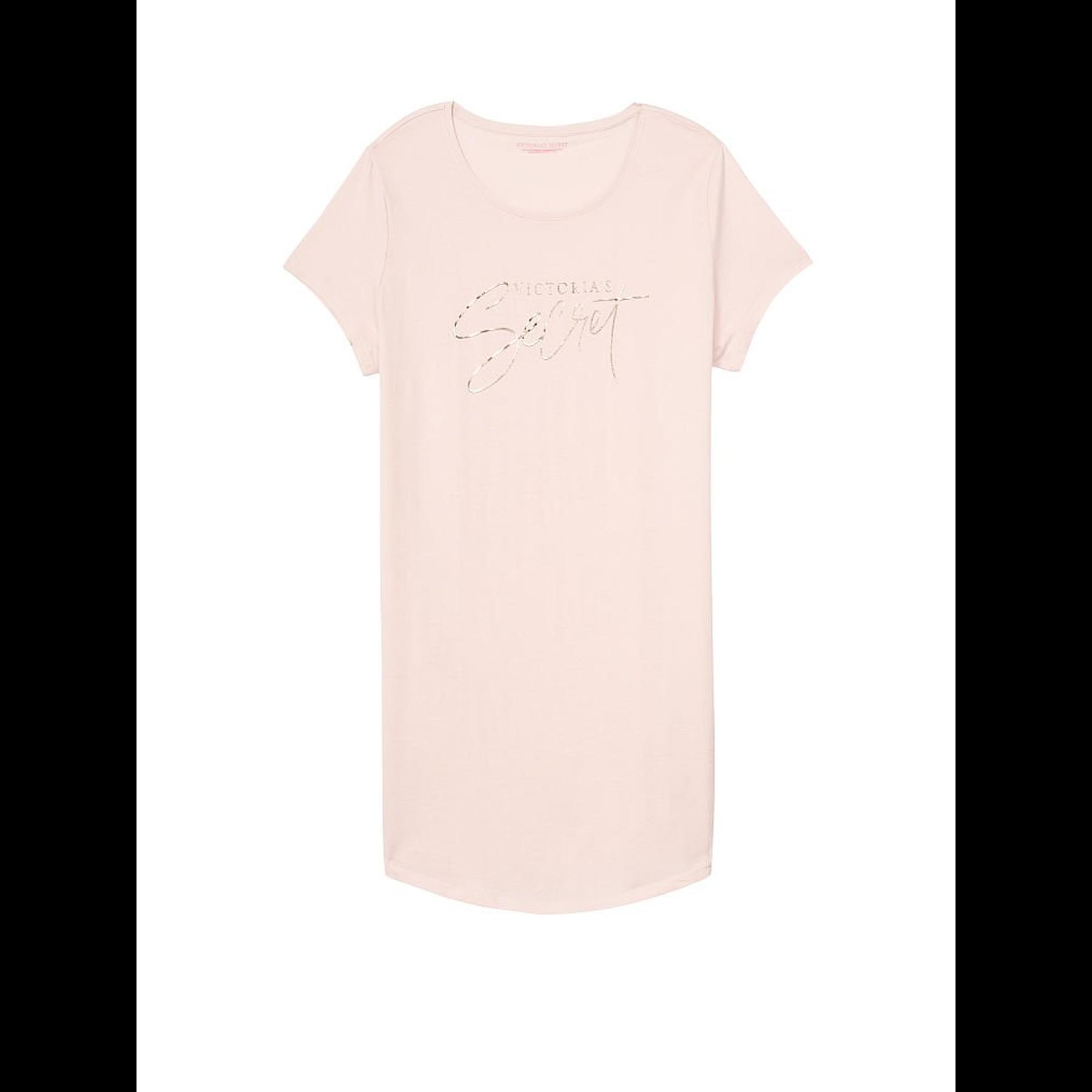 Camisa de dormir rosa pastel Victoria Secret