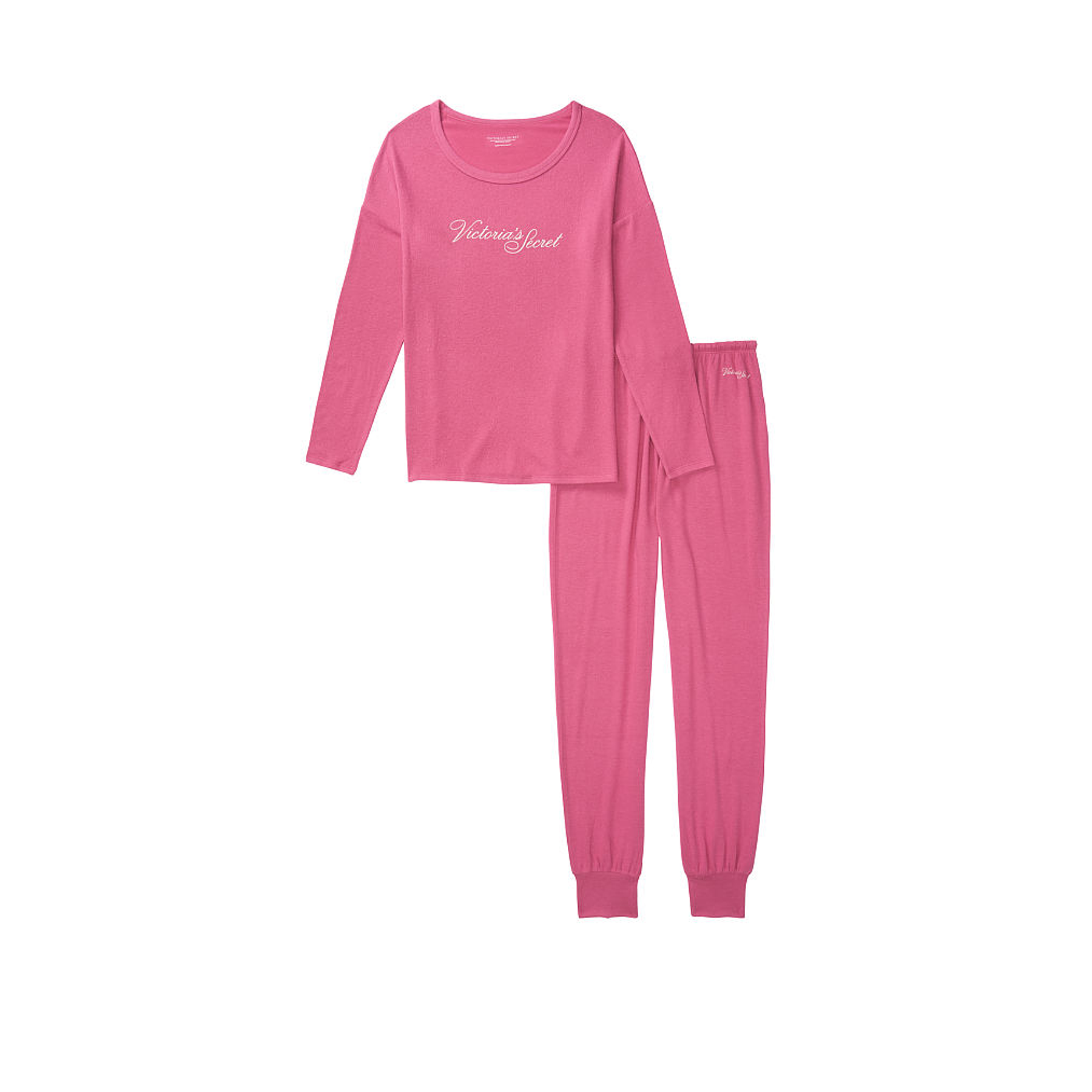 Conjunto Pijama Jogger Fucsia Victoria Secret