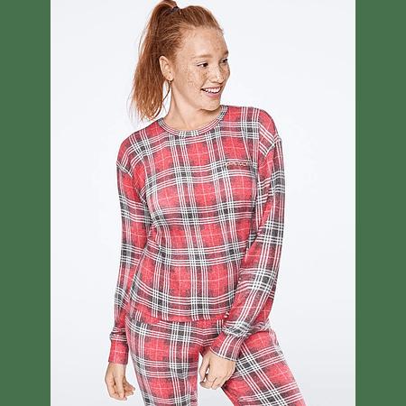 Conjunto pijama Pink cuadrille