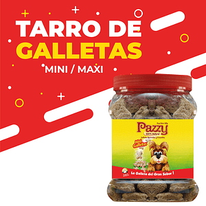 Tarro galleta Mini o Maxi por 500g