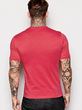 Red Shirt With Round Neck