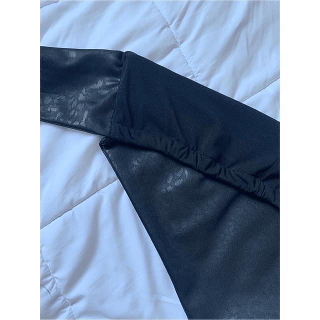 TOP MULAN negro print