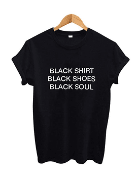 TEE UNISEX / BLACK SHIRT
