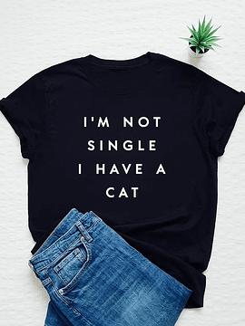 TEE UNISEX / I'M NOT SINGLE I HACE A CAT