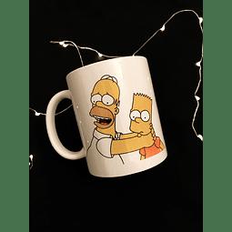 Taza Homero y Bart
