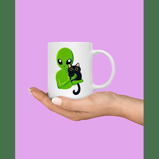 Taza Alien y Cat