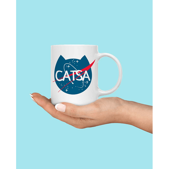 Taza Catsa Nasa Cat