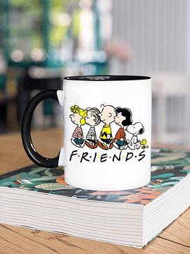 Taza Snoopy Friends borde negro