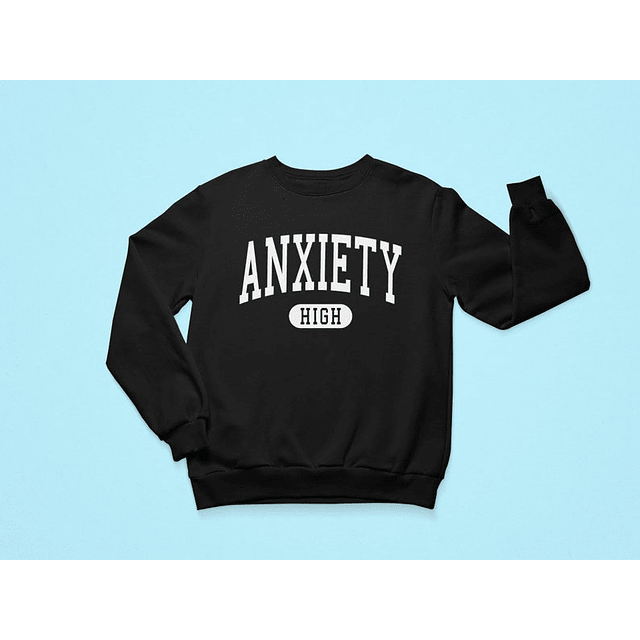 Pullover Anxiety High negro