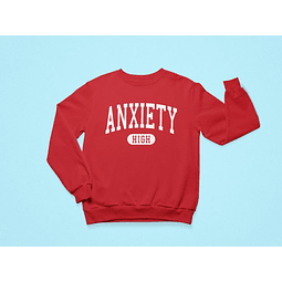 Pullover Anxiety High rojo