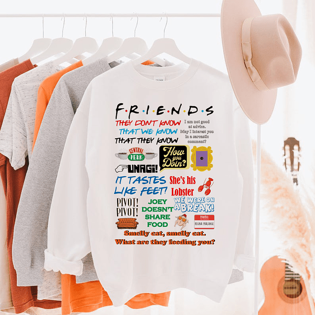 PULLOVER FRIENDS FRASES