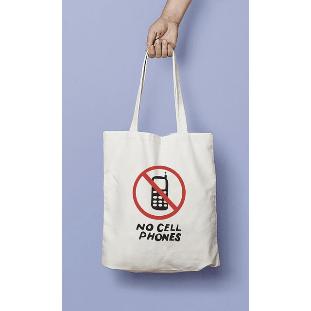 TOTE BAG GILMORE GIRLS NO CELLPHONES