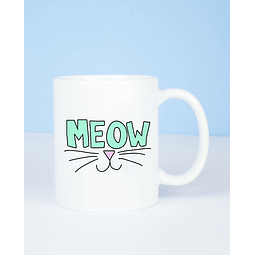 Taza meow verde
