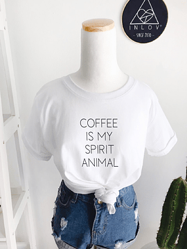 TEE UNISEX / COFFEE IS MY SPIRIT ANIMAL